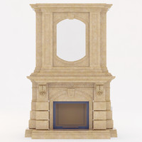 marble fireplace 3d max