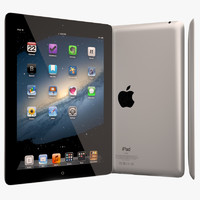 apple ipad 3rd generation 3d model