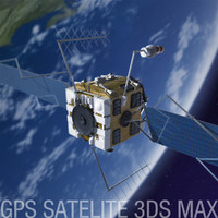 gps satellite 3d max