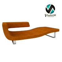 chaise longue 3d model