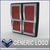 generic logo 3d model