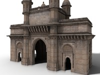 3d mumbai gateway india model