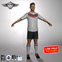 3d max soccer player germany