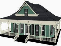 3d model of cottage