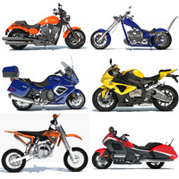 3d goldwing motorcycle sport bike model