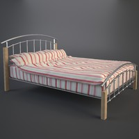 3d duvet double bed model