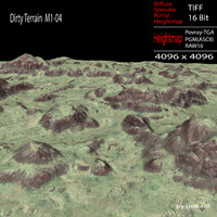 dirty terrain m1-04 3d model