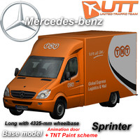 mercedes-benz sprinter tnt 3d model