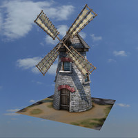 medieval wind buildings 3d fbx