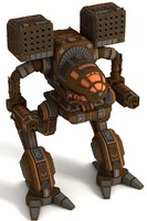 3d model mech warrior madcat