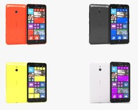 3d model nokia lumia 1320 colors