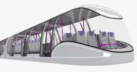 3d model sci-fi metro train