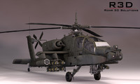 maya boeing apache helicopter