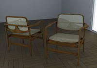 3d model chair armchair niemeyer