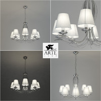 chandelier arte lamp domain 3d model