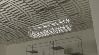 3d max crystal chandelier