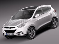 2013 2014 suv hyundai 3d model