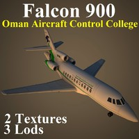 dassault falcon 900 aircraft 3d max