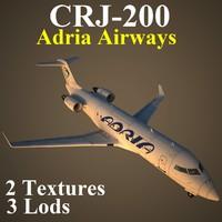 regional jet 2 adr 3d model