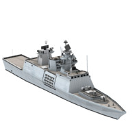 shivalik indian navy frigate 3d obj