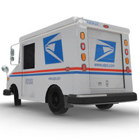 usps truck 3ds