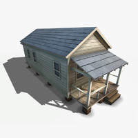 3d shotgun style house model