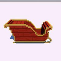 3d model santa sledge minecraft