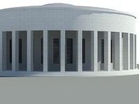 pavilion mestrovic building 3d 3ds