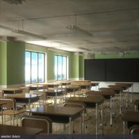classroom interior rendering lwo