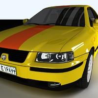 samand taxi 3d model
