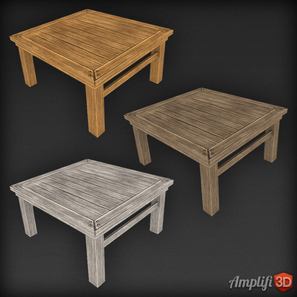 Low Poly Table Square