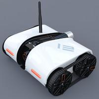 3d rover spy tank model