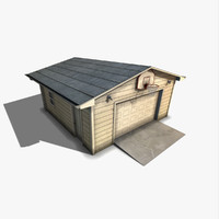 single garage 3d model