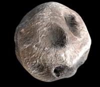 3d model meteor comet rock