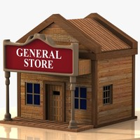 Cartoon Western Building 5 (General Store)