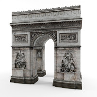 arch triumph 3d max
