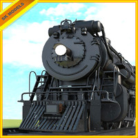 train steam engine 3d max