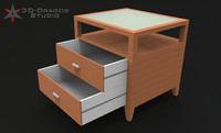 3d model table bed