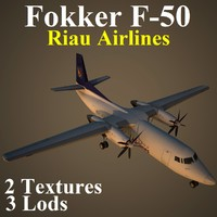 3d fokker riu model