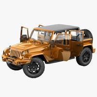 Jeep Wrangler Moab Half Pickup 2013 Rigged