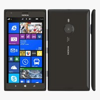 nokia lumia 1520 black 3d 3ds