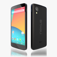 3d model of google phone nexus 5