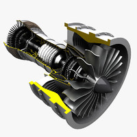 turbofan fan turbo 3d model