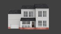free x mode house white suburban