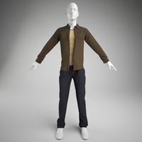 man clothes- pants,vest and shirt (mannequin not included)