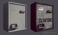 laundromat change machine 3d model