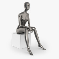 3d slim female mannequins model