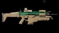 c4d scar-h rifle
