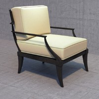 3d klismos lounge chair