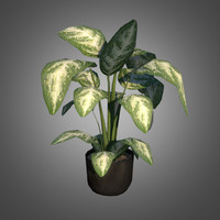 3ds max plastic potted plant